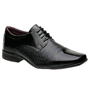 Sapato Social Torani Bari Verniz Preto com Cadarço