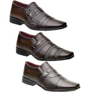 Kit 3 Pares Sapatos Sociais Masculinos Torani Cosenza