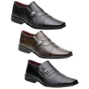 Kit 3 Pares Sapatos Sociais Masculinos Torani Forli