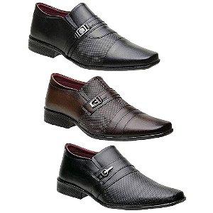 Kit 3 Pares Sapatos Sociais Masculinos Torani Morino