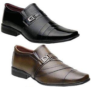 Kit 2 Pares Sapatos Sociais Torani Valenza
