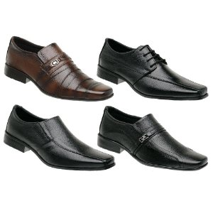 Kit 4 Sapatos Sociais Masculinos Couro Torani Stigliano