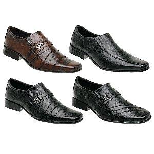 Kit 4 Sapatos Masculinos Couro Torani Tirreni