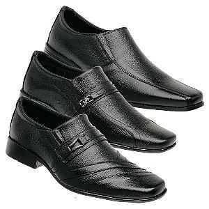 Kit 3 Sapatos Masculinos Couro Torani San Severo
