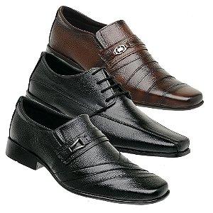 Kit 3 Sapatos Masculinos Couro Torani Trivento