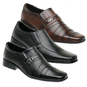 Kit 3 Pares Sapatos Sociais Couro Torani Vecchio