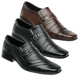 Kit 3 Pares Sapatos Sociais Couro Torani Poggio