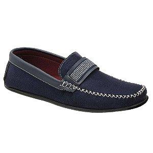 Sapato Masculino Mocassim Azul Torani