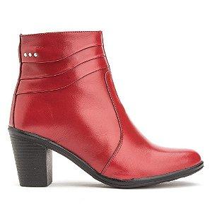 Bota Feminina Vermelha Cano Curto Torani Cashel