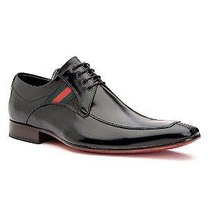 Sapato Social Masculino de Amarrar Couro Preto