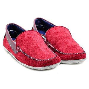 Sapato Mocassim Masculino Torani cor Vermelho
