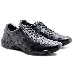 Sapato  Masculino Pipper Couro  Preto