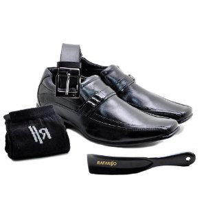 Kit Sapato Social Rafarillo Office Prime Preto