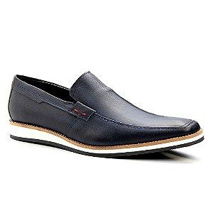 Sapato Masculino Casual Masculino Couro Azul