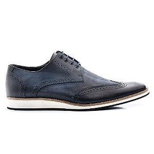 Sapato Masculino Azul Bigioni Oxford Cadarço
