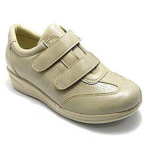 Sapato Feminino Ortopédico Comfort Bege