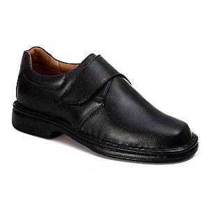 Sapato Conforto Masculino Couro Preto