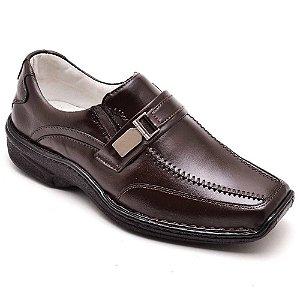 Sapato Masculino Antistress Torani Lyon Couro Marrom