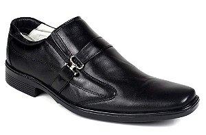 Sapato Confortável Ranster Palmilha Gel Couro Marrom ou Preto