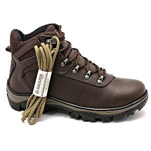Bota Adventure Masculina Couro Legítimo Torani Elbrus com Cadarço Extra