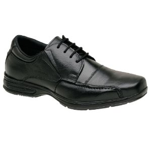 Sapato Masculino com Cadarço Couro Preto Torani SLZ
