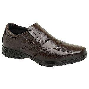 Sapato Masculino Confortável Couro Marrom Torani SLZ