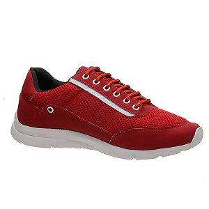 Tênis Masculino Caminhada Vermelho Torani SLZ