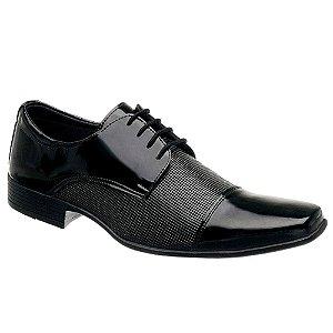 Sapato Social Masculino Verniz Preto Torani SLZ
