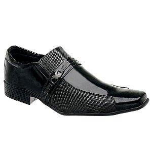 Sapato Social Masculino Envernizado Preto Torani SLZ