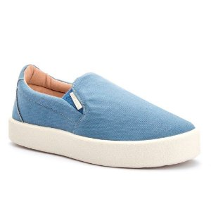 Tênis Slip On Azul Casual
