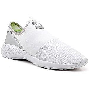 Tênis Confortável Casual Branco Calce Fácil Super Confortável