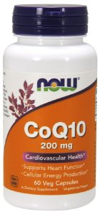 CoQ10 200mg 60 Veg Capsulas NOW Foods