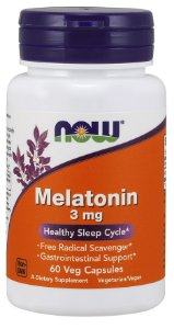 Melatonina 3mg 60 veg capsules NOW Foods