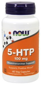 5 HTP 100mg 60 veg caps NOW Foods
