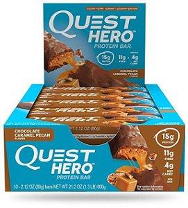 Quest bars HERO Lançamento CHOCOLATE CARAMEL PECAN FRETE GRÁTIS