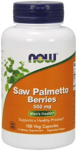 Saw Palmetto Berries 550 mg 100 veg capsules NOW Foods