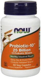 Probiotic 10 25 Billion 50 Veg Capsules NOW Foods