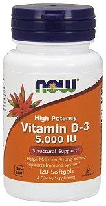 Vitamina D3 5000 IU 120 Softgels NOW Foods
