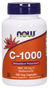Vitamina C 1000  100 Veg Caps com 100mg Bioflavonoids NOW Foods