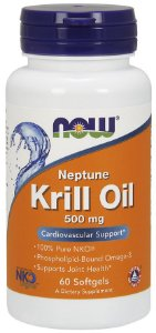 Krill Oil 500mg 60 Softgels NOW Foods