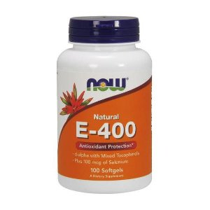 Vitamina E 400 IU 100 Softgels NOW Foods