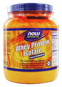 Whey Protein Isolate Proteina Isolada Sem Sabor 1.2lbs 544g NOW Foods