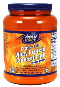 Whey Protein Concentrate Grass Fed 1.2lbs NOW Foods