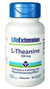L Theanine 100mg 60 veg capsules LIFE Extension