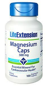 Magnésio Caps 500mg 100 veg caps LIFE Extension