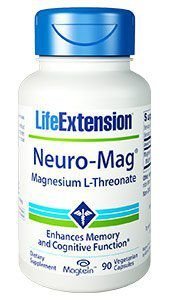 Neuro Mag L Threonate de magnésio 90 vegetarian capsules LIFE Extension