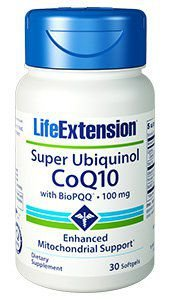 Super Ubiquinol CoQ10 com BioPQQ 100mg 30 caps LIFE Extension