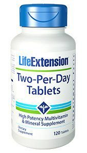 Two per day 120 tabs LIFE Extension FRETE GRATIS