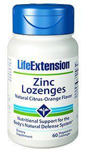 Zinco Lozenges 60 vegetarian lozenges LIFE Extension