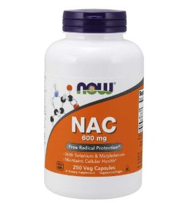 NAC 600 mg 250 Veg Capsules NOW Foods